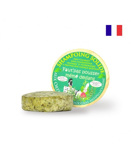Shampoing solide anti pelliculaire moussant